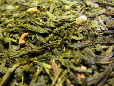 Grüner Tee mit Gingseng